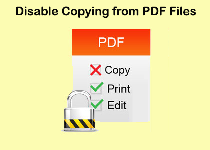 stop copying text from pdf