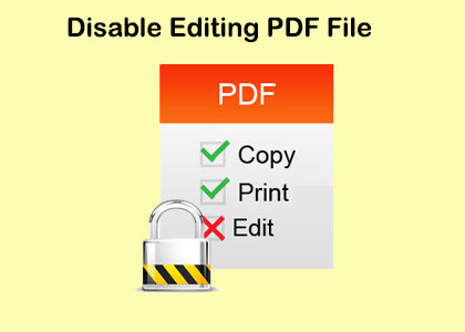 disable editing in pdf