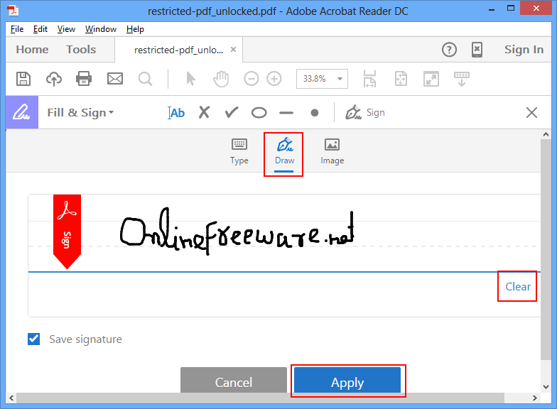how to draw a signature in pdf